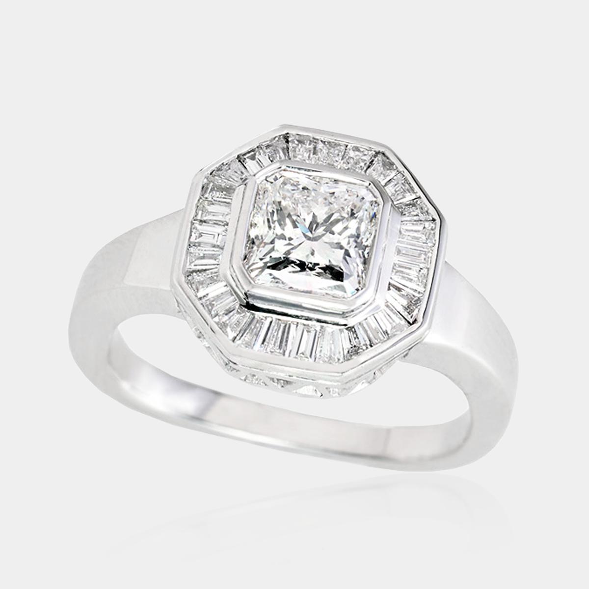 Engagement Rings Dress Rings Diamond Radiant Cut Halo Art Deco Product 100188