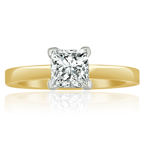Princess cut diamond engagement ring solitaire setting