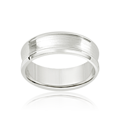 Silver white gold platinum men's wedding rings