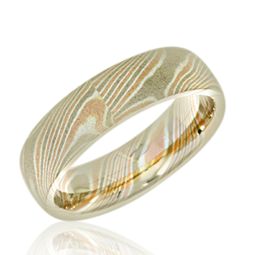 Mokume Gane Men's wedding rings