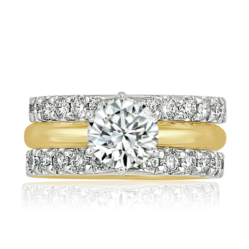 Another round brilliant cut diamond wedding ring