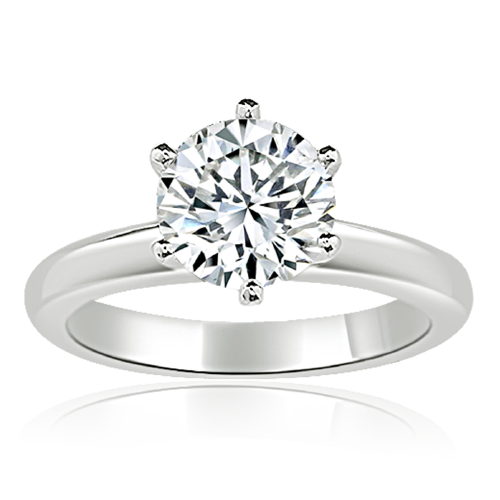 Solitaire style diamond ring setting