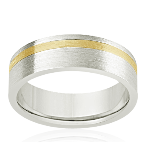Two tone Men's ring