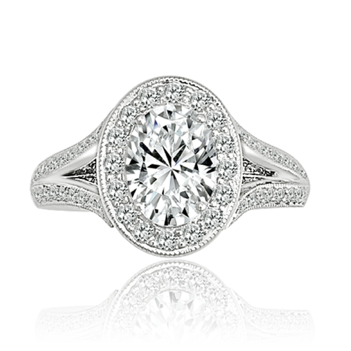Diamond ring vintage setting style